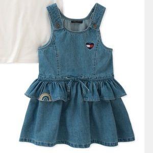 Tommy Hilfiger Matching Sets - Tommy Hilfiger Cotton T-Shirt & Denim Ruffle Dress